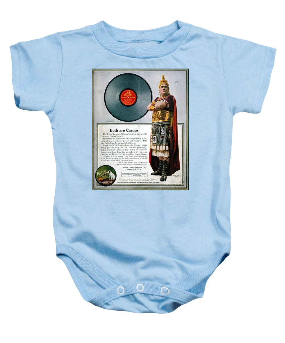1914 Baby Onesie featuring the photograph Enrico Caruso (1873-1921) by Granger