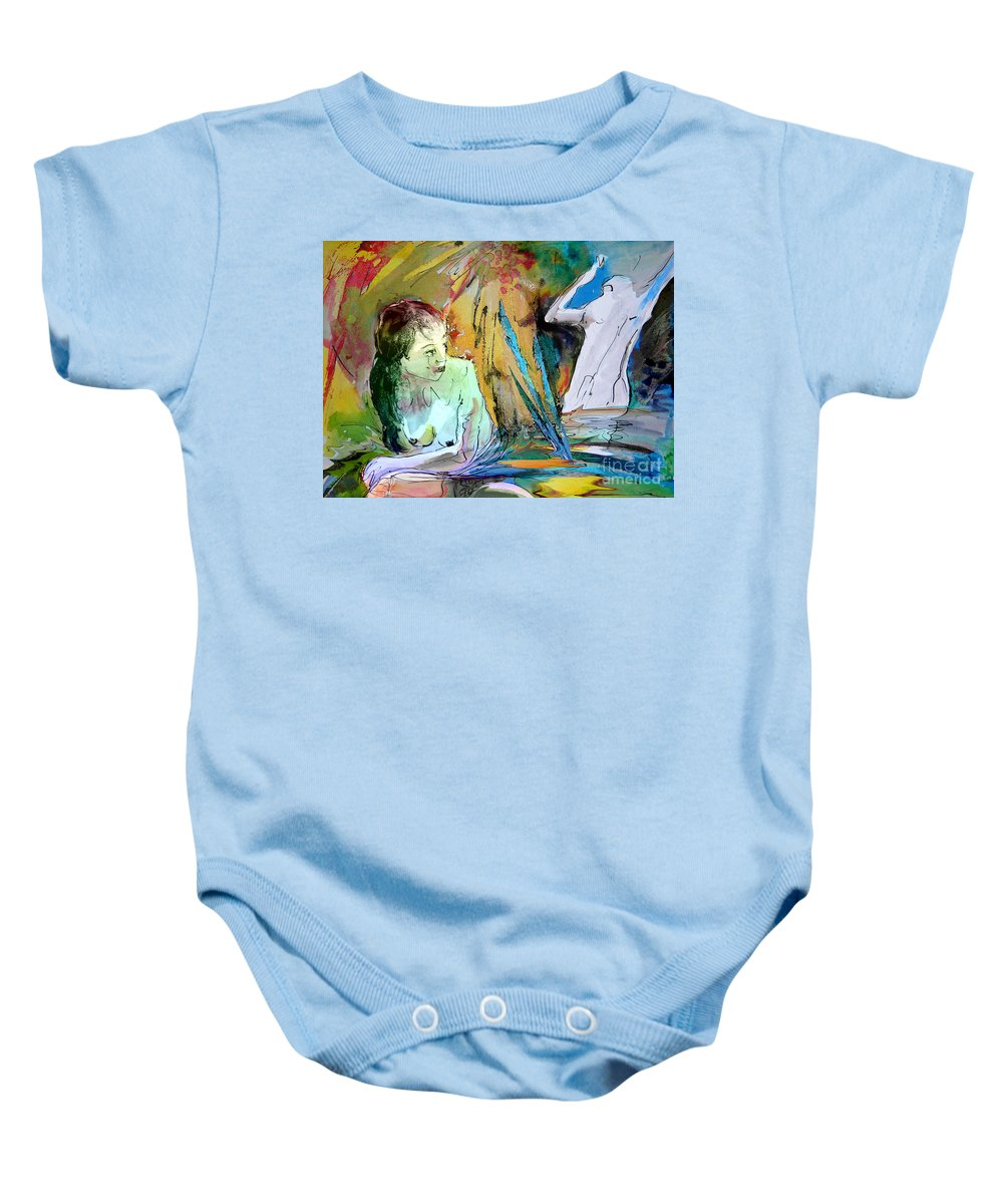 Miki Baby Onesie featuring the painting Eroscape 15 1 by Miki De Goodaboom