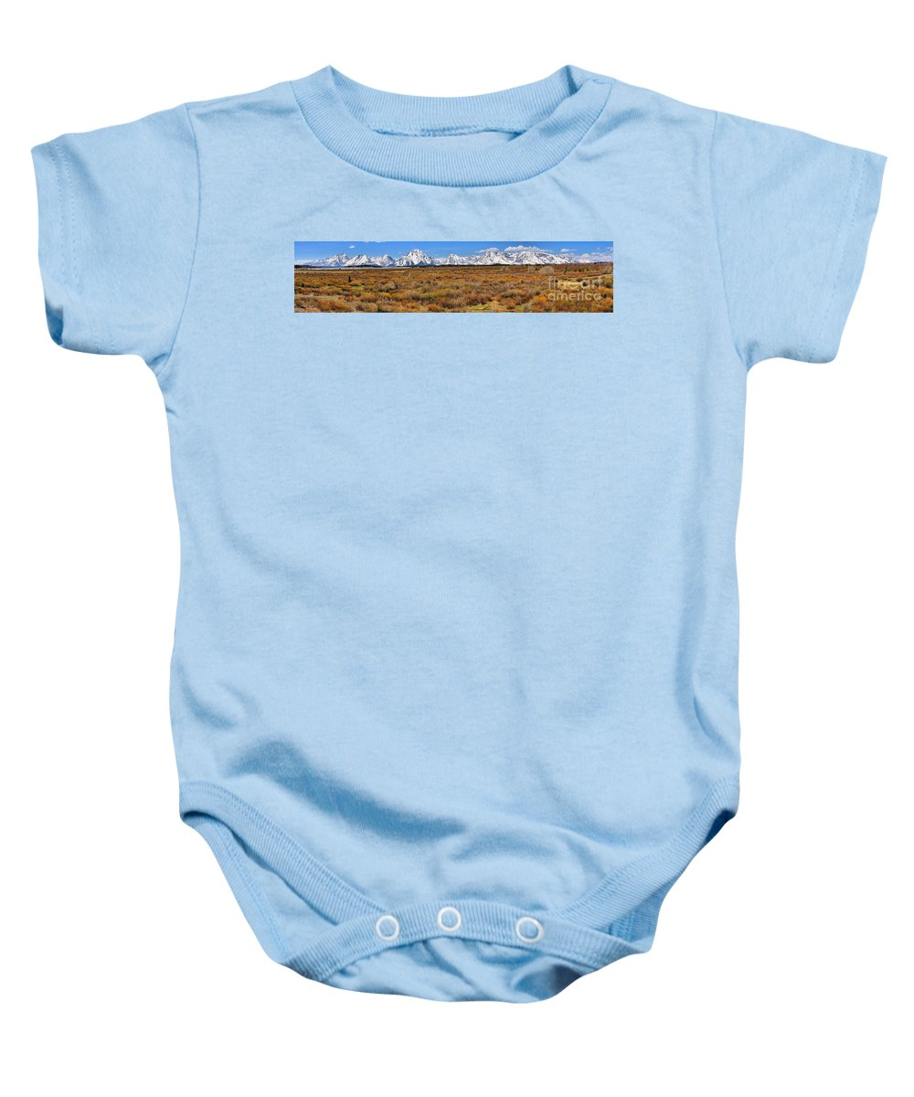 Willow Flats Baby Onesie featuring the photograph Extended Willow Flats Panorama by Adam Jewell