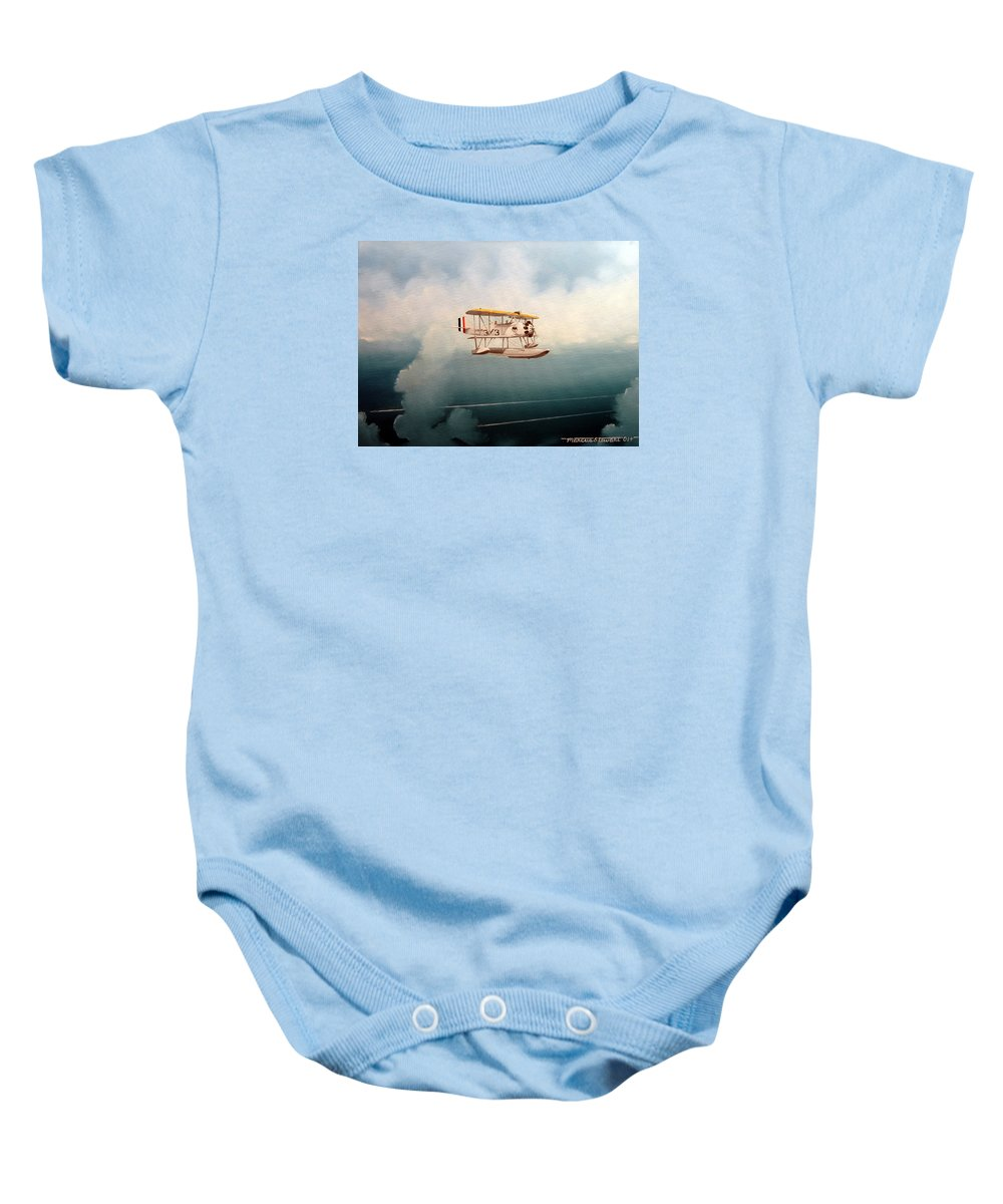 Military Baby Onesie featuring the painting Eyes Of The Fleet by Marc Stewart