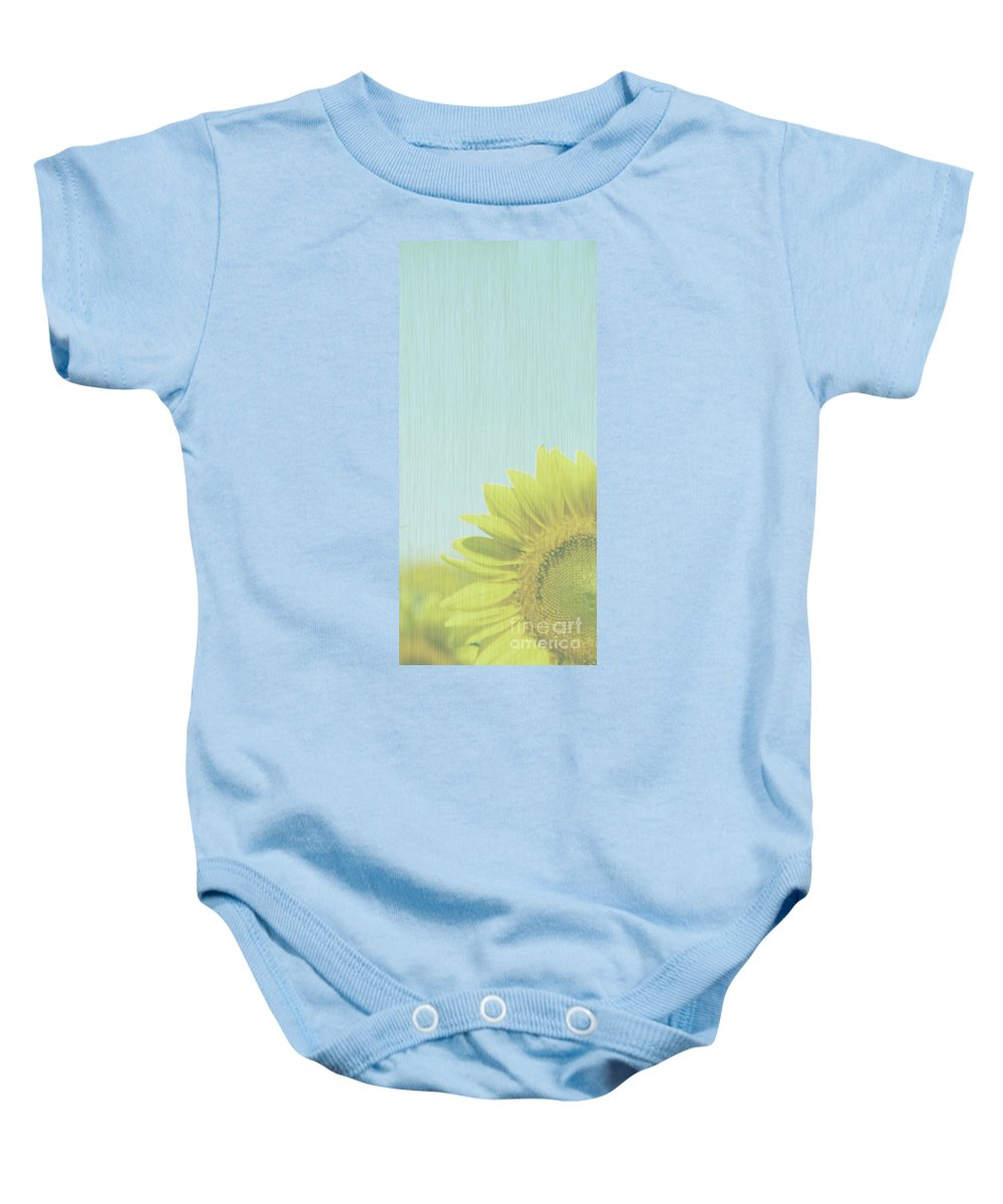 Sunflowers Baby Onesie featuring the photograph Faded by Amanda Barcon