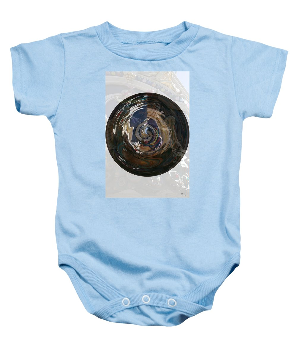 Women Lady Girl World Space Portal Relm Escape Abstract Baby Onesie featuring the photograph Faded Lady by Andrea Lawrence
