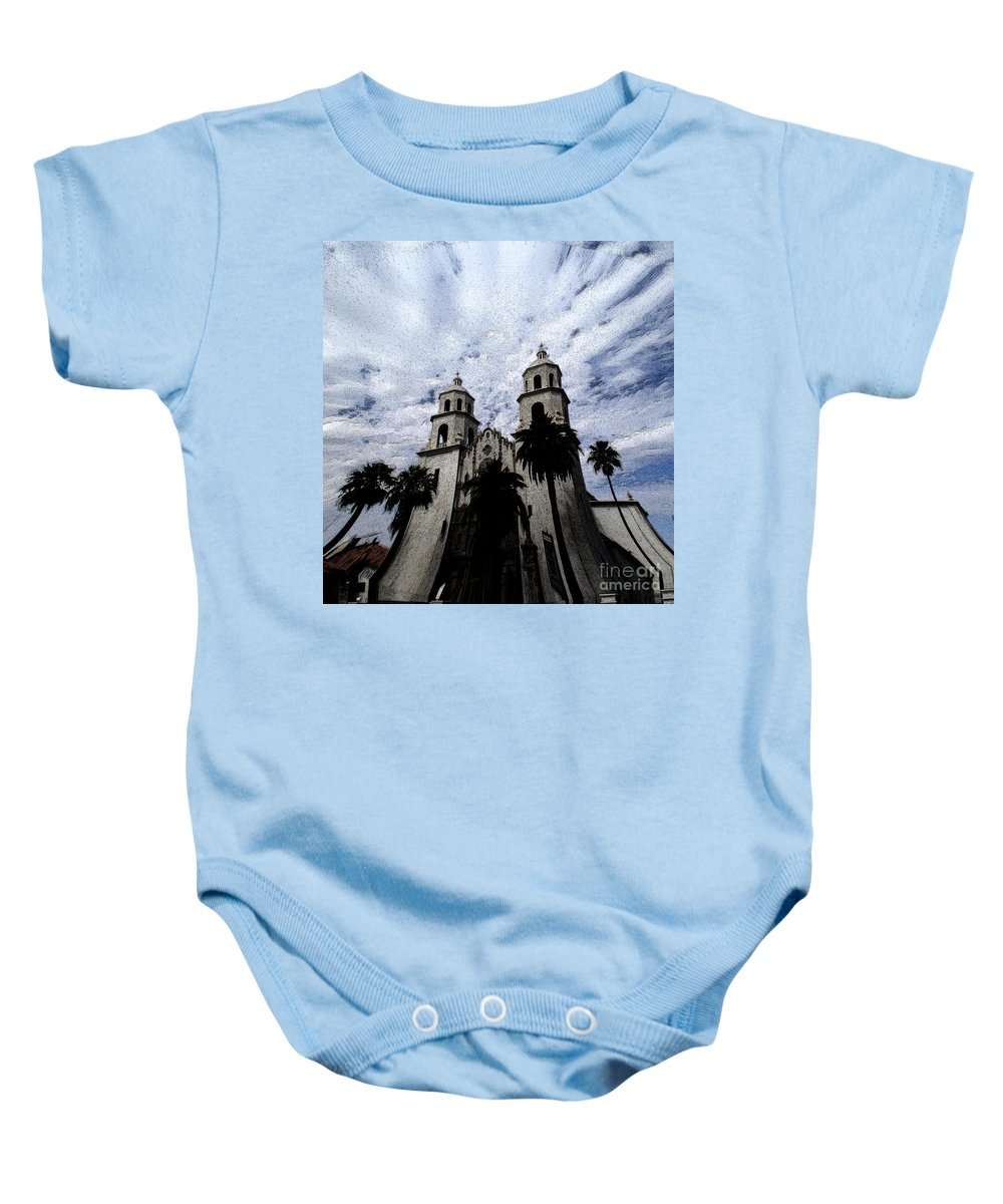 Cathedral Baby Onesie featuring the photograph Faith Arizona by Linda Shafer