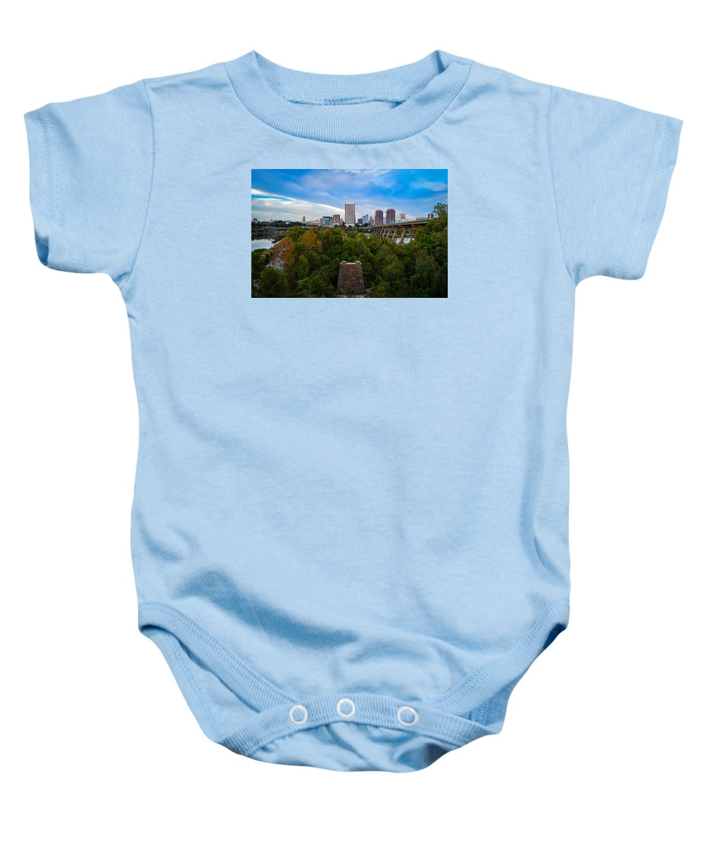 Richmond Baby Onesie featuring the photograph Fall Approaching In Richmond by Aaron Dishner