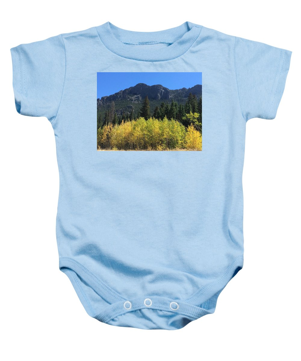 Landscape Baby Onesie featuring the photograph Fall At Twin Sisters by Kristen Anna