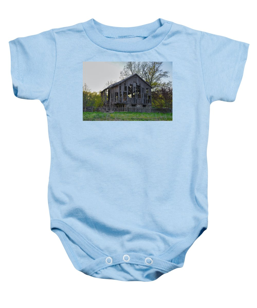 Falling Baby Onesie featuring the photograph Falling Apart by Bill Cannon