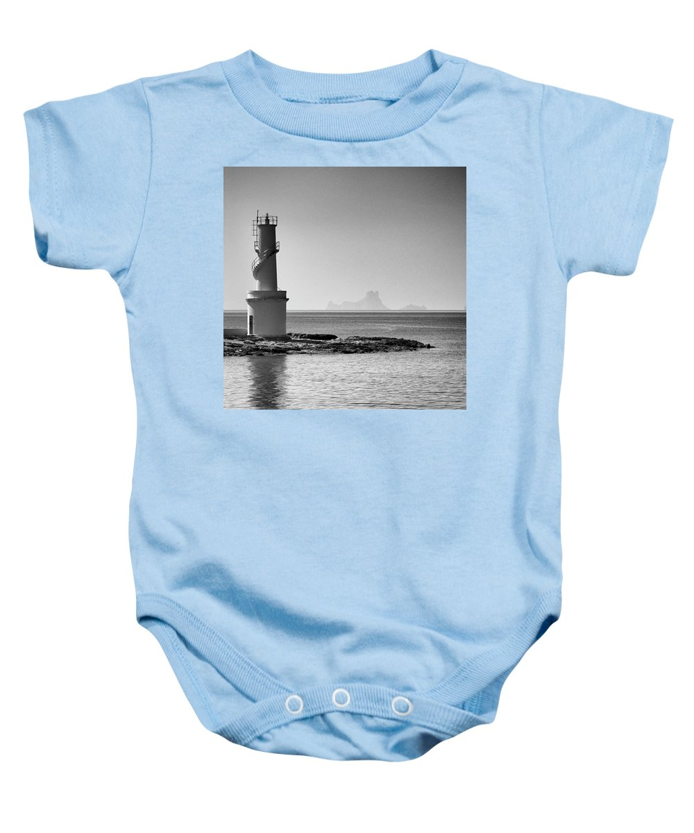 Balearics Baby Onesie featuring the photograph Far De La Savina Lighthouse, Formentera by John Edwards
