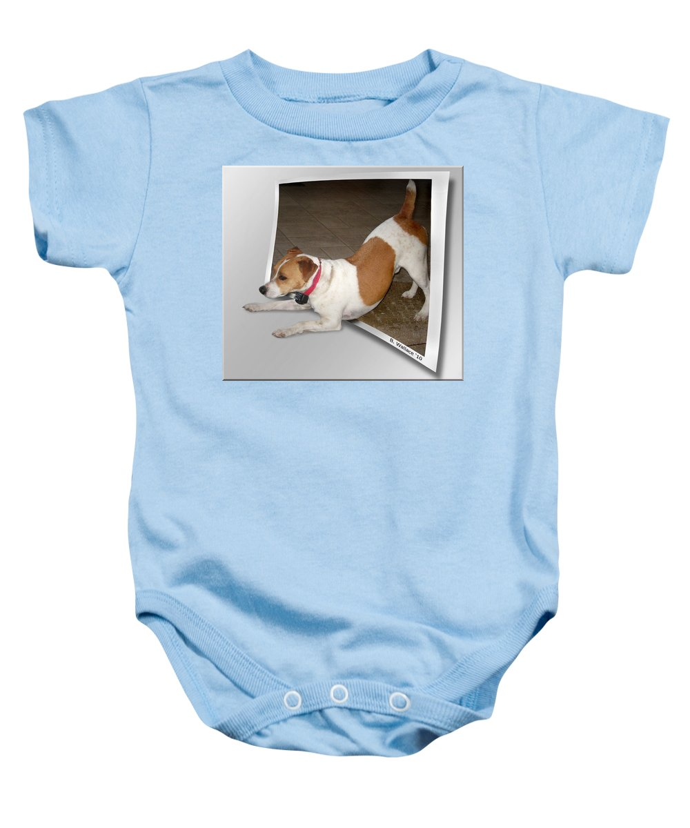 2d Baby Onesie featuring the photograph Feeling Frisky by Brian Wallace