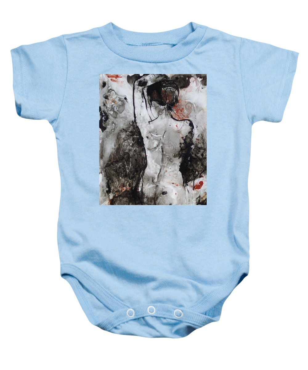 Acrylic Baby Onesie featuring the painting Figure Study 024 by Donna Frost