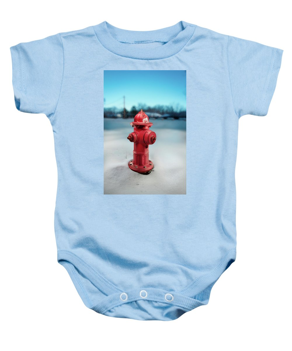Exterior Baby Onesie featuring the photograph Fire Hydrant by Yo Pedro