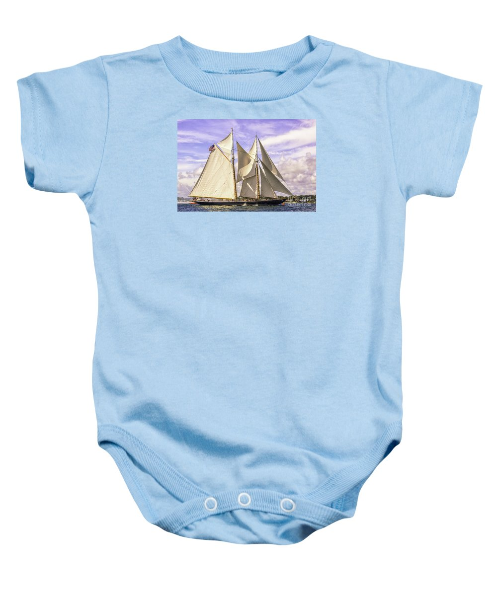 Amistad Baby Onesie featuring the photograph First Place by Joe Geraci