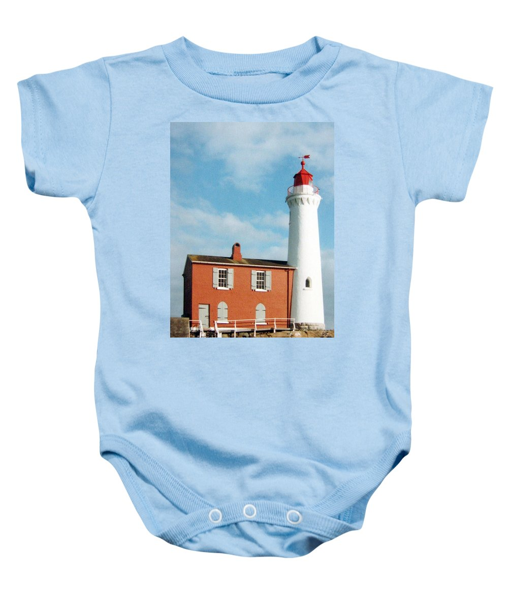 Fisgard Lighthouse Baby Onesie featuring the photograph Fisgard Lighthouse by Will Borden