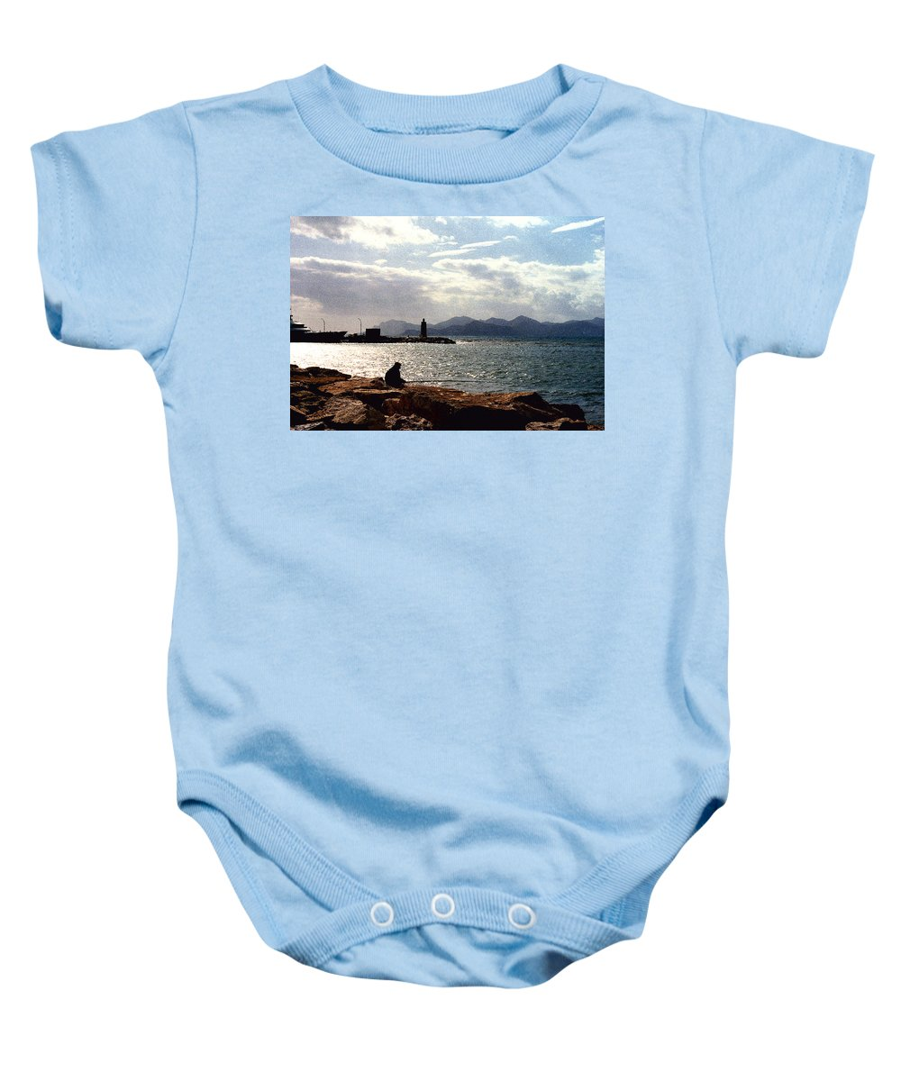 Fisherman Baby Onesie featuring the photograph Fisherman In Nice France by Nancy Mueller