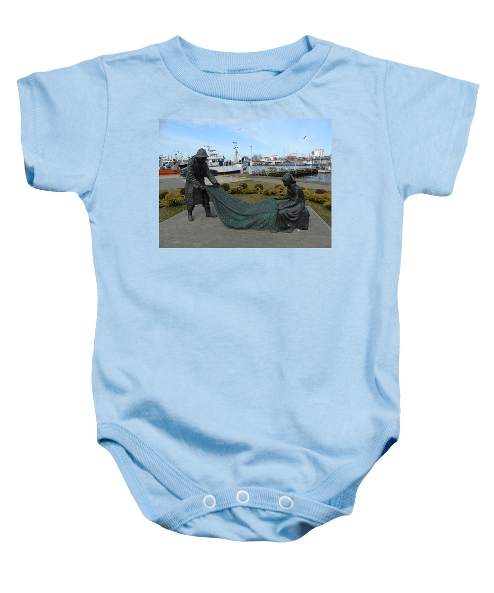 Love Baby Onesie featuring the photograph Fishing by Maria Woithofer