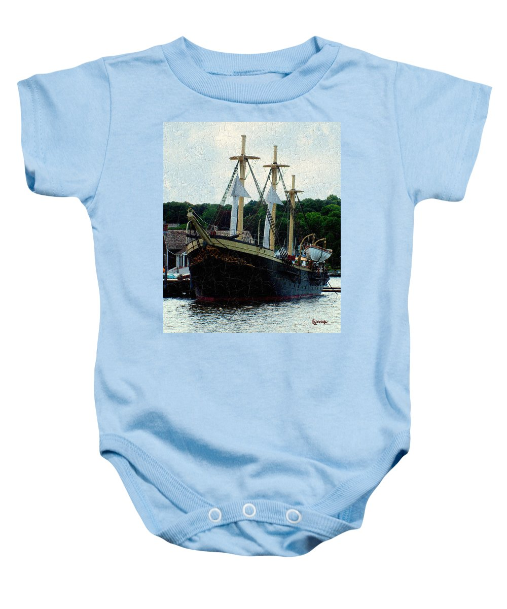 Antique Baby Onesie featuring the painting Fit And Trim by RC DeWinter