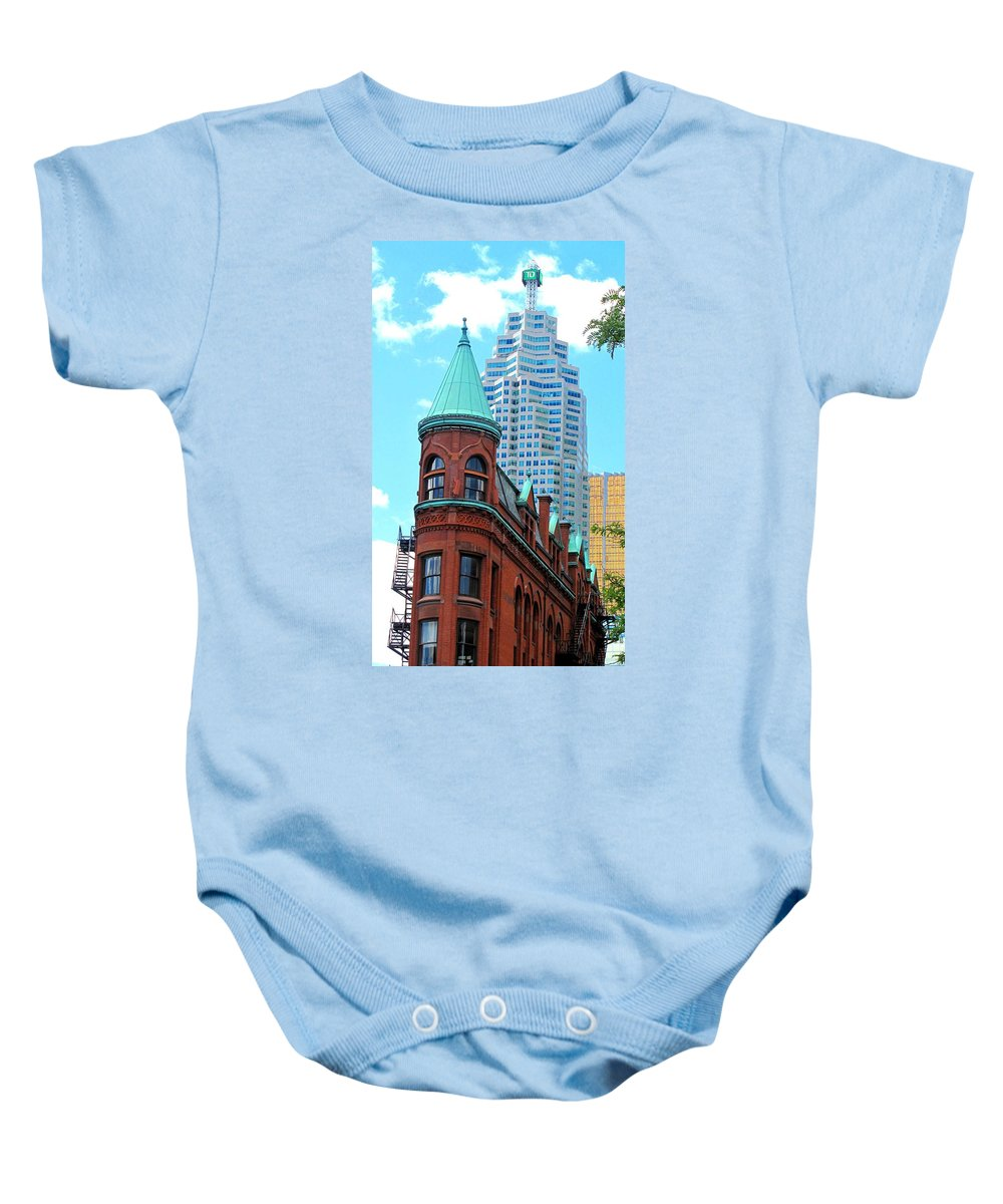 Flat Iron Building Baby Onesie featuring the photograph Flat Iron Building by Ian MacDonald