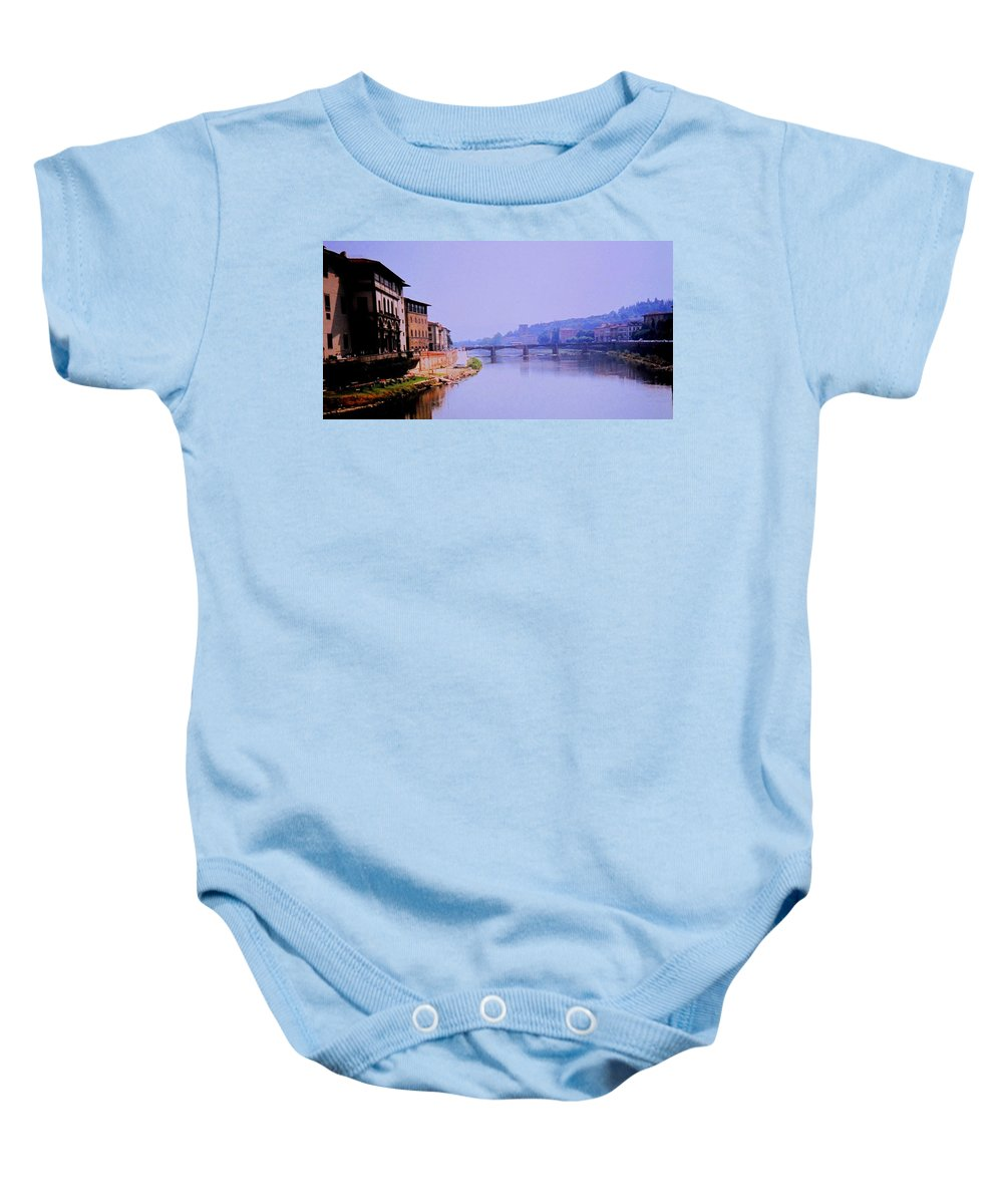 Florence Baby Onesie featuring the photograph Florence by Ian MacDonald