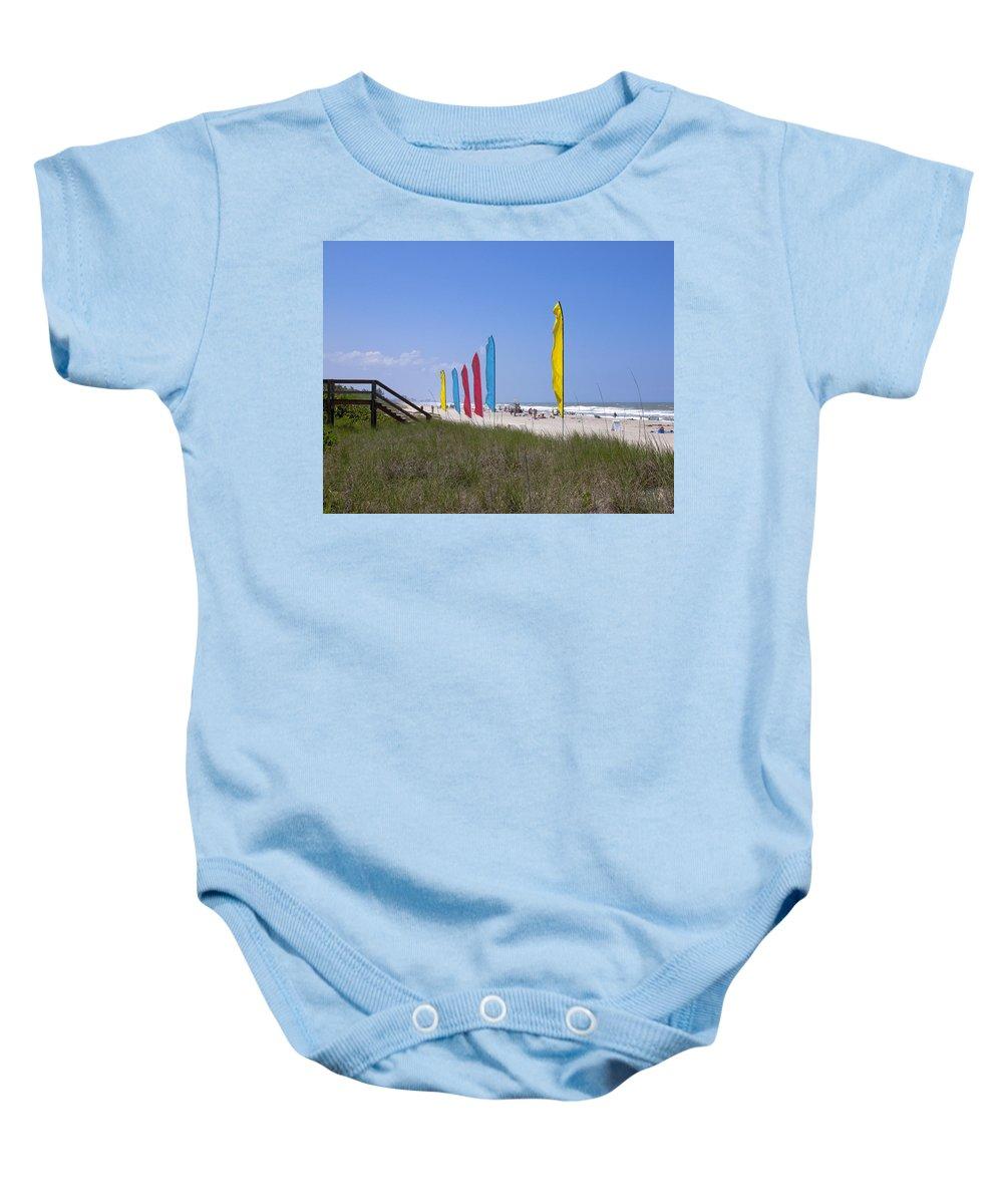 Florida Baby Onesie featuring the photograph Florida Beach On The Atlantic by Allan Hughes