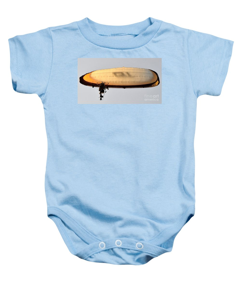 Flying Baby Onesie featuring the photograph Flying Free by David Lee Thompson