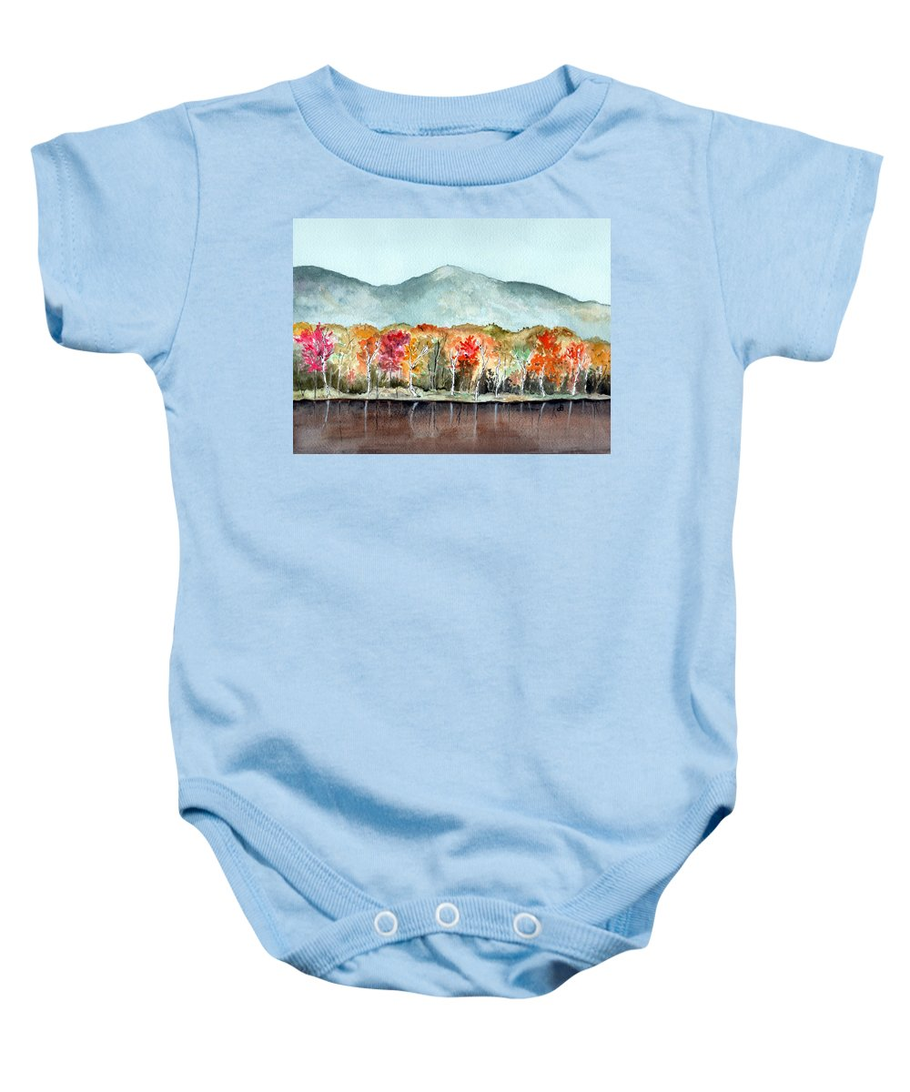 Watercolor Baby Onesie featuring the painting Foliage by Brenda Owen