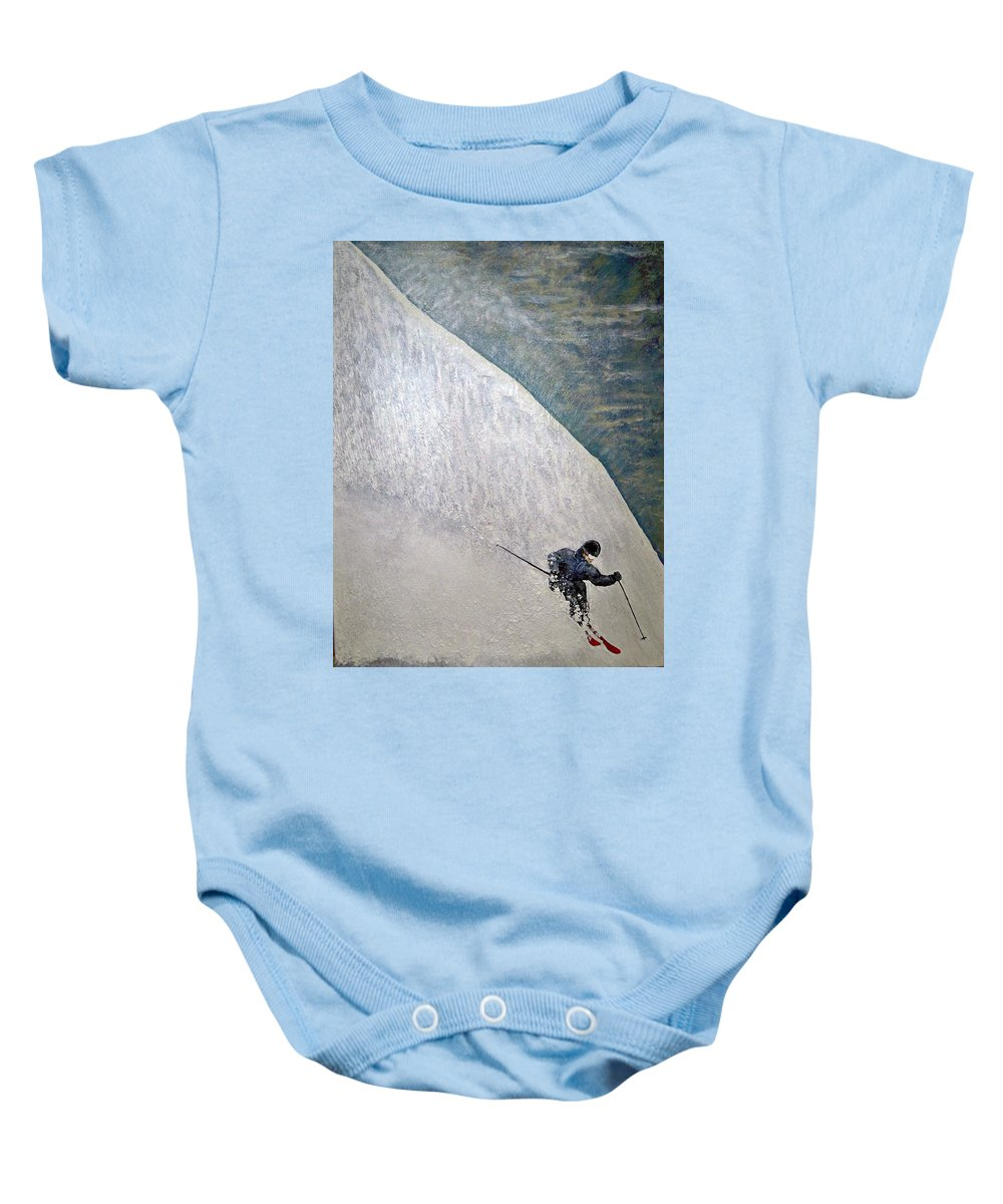 Landscape Baby Onesie featuring the painting Form by Michael Cuozzo