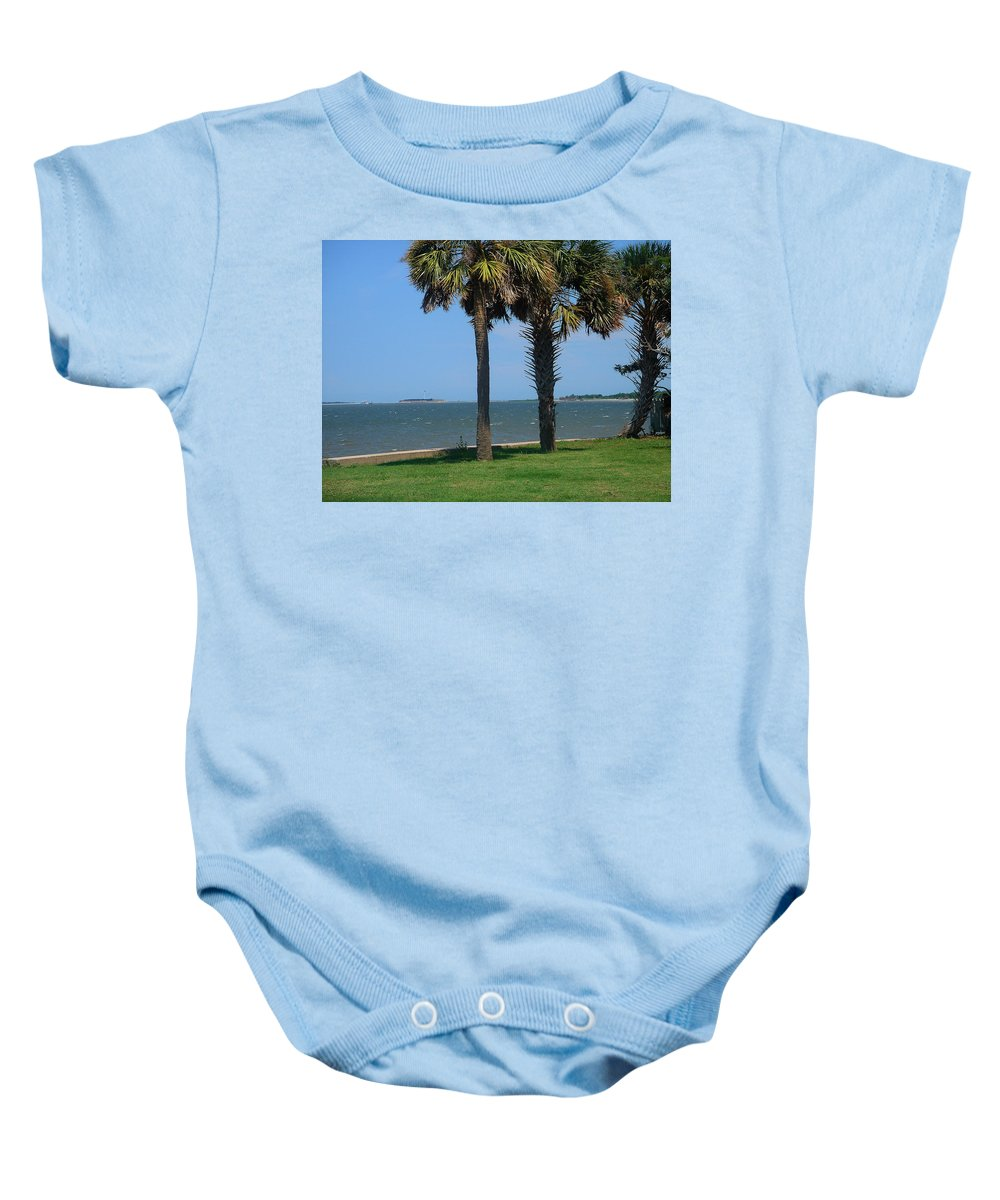 Photography Baby Onesie featuring the photograph Fort Sumter Charleston Sc by Susanne Van Hulst