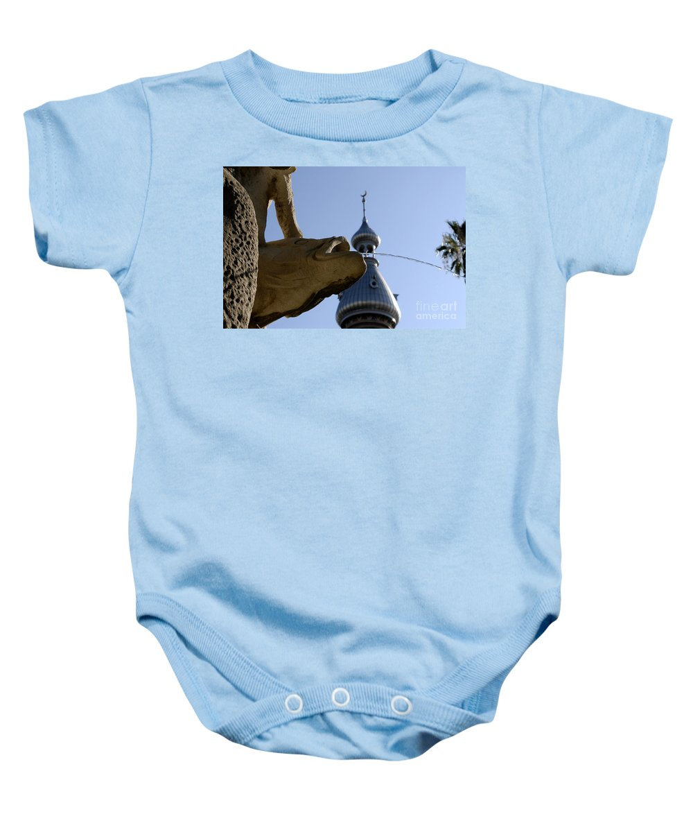 University Of Tampa Baby Onesie featuring the photograph Fountain At Ut by David Lee Thompson