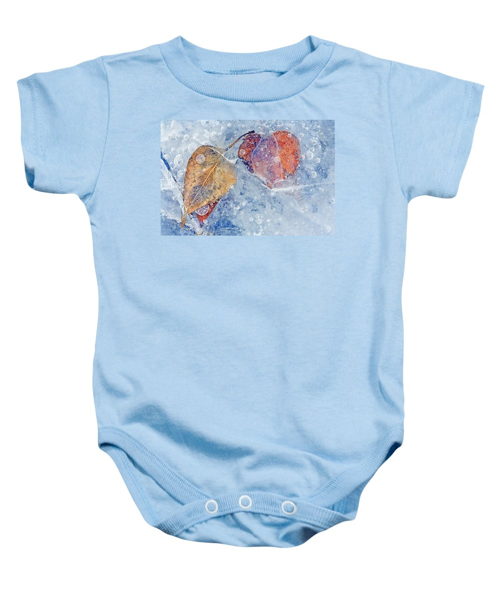 Ice Baby Onesie featuring the photograph Fractured Seasons by Mike Dawson