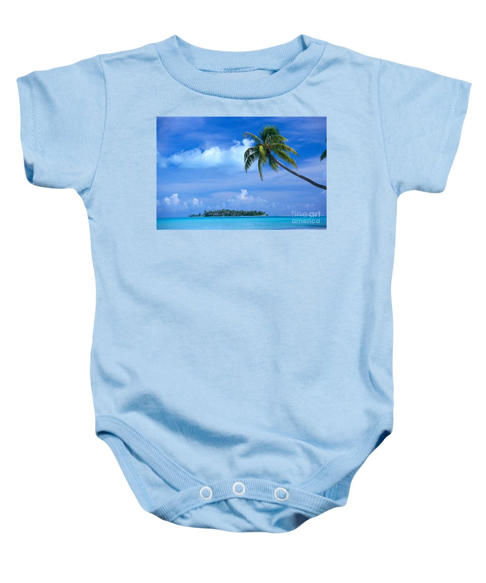 Blue Baby Onesie featuring the photograph French Polynesia, Bora Bo by Himani - Printscapes