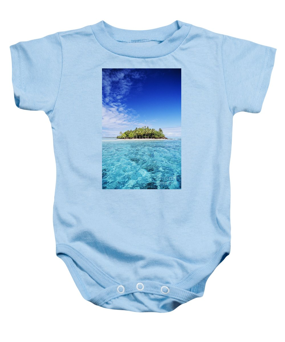 Beach Baby Onesie featuring the photograph French Polynesian Island by Joe Carini - Printscapes