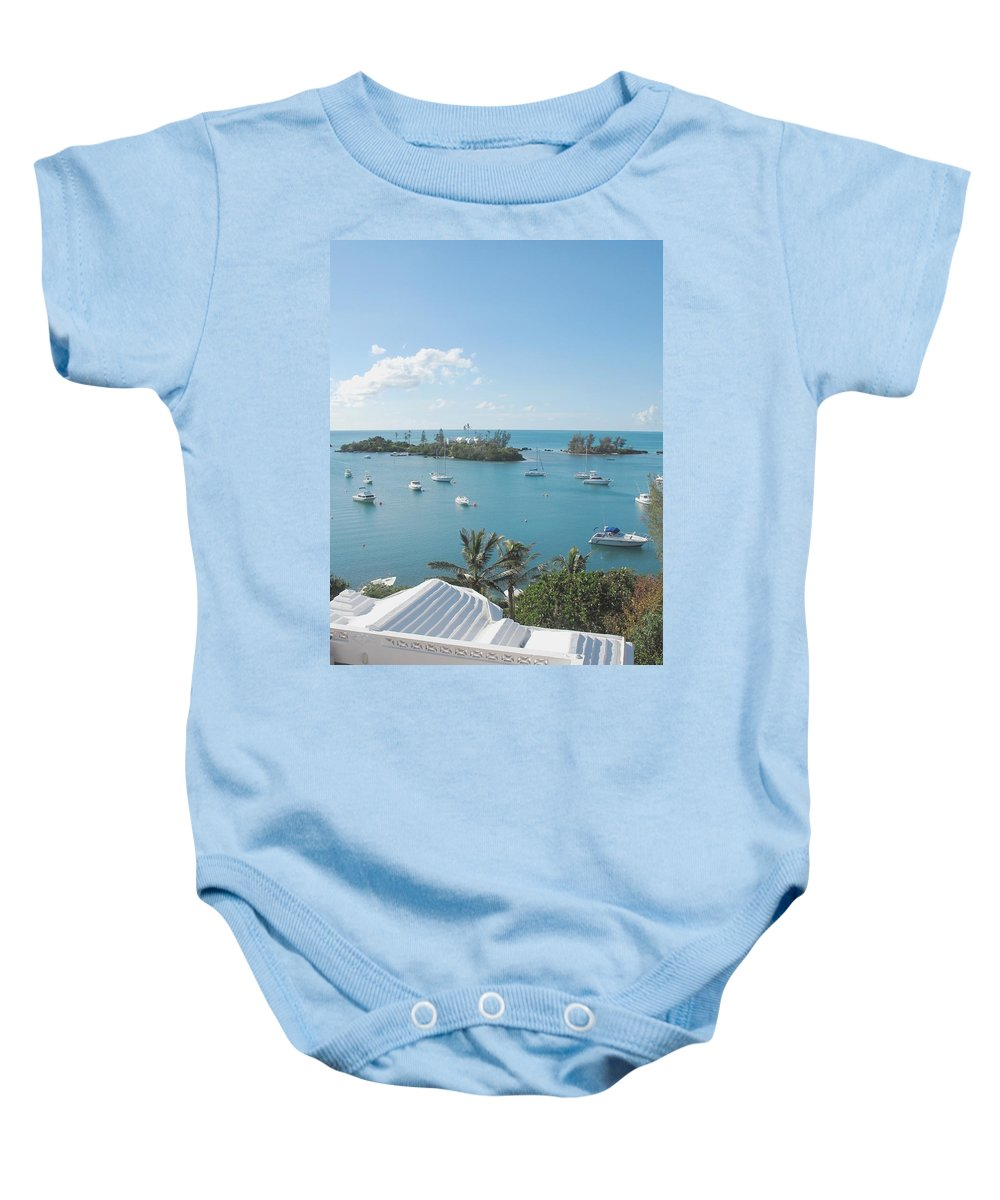Southhampton Baby Onesie featuring the photograph From Annettes Place by Ian MacDonald