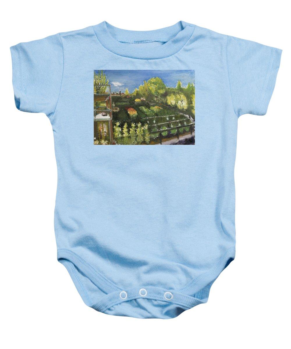 Garden Baby Onesie featuring the painting Garden by Craig Newland