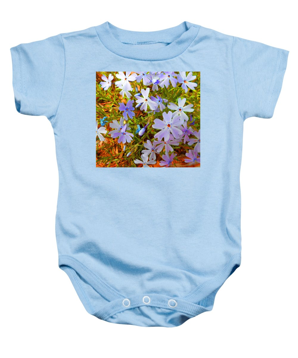 Flowers Baby Onesie featuring the painting Flower Photography- Floral Art- Digital-floral Fireworks by Kathy Symonds