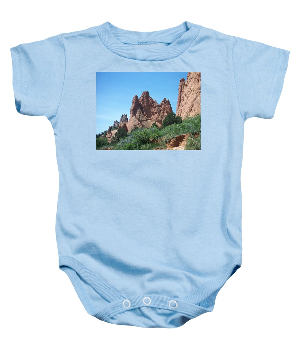 Colorado Baby Onesie featuring the photograph Garden Of The Gods 2 by Anita Burgermeister