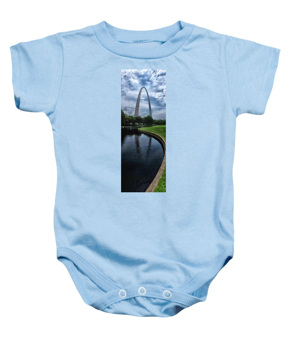 St Louis Baby Onesie featuring the photograph Gateway To The West by David Gaynor