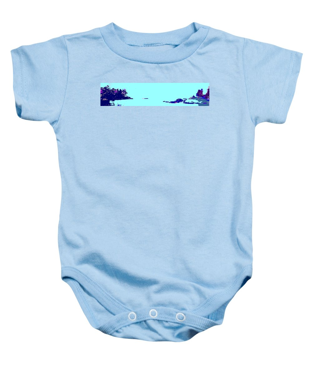 Baby Onesie featuring the photograph Georgian Bay Blue by Ian MacDonald