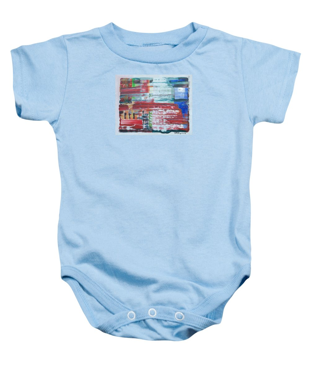 Impressionism Baby Onesie featuring the painting Glass Blocks by J R Seymour