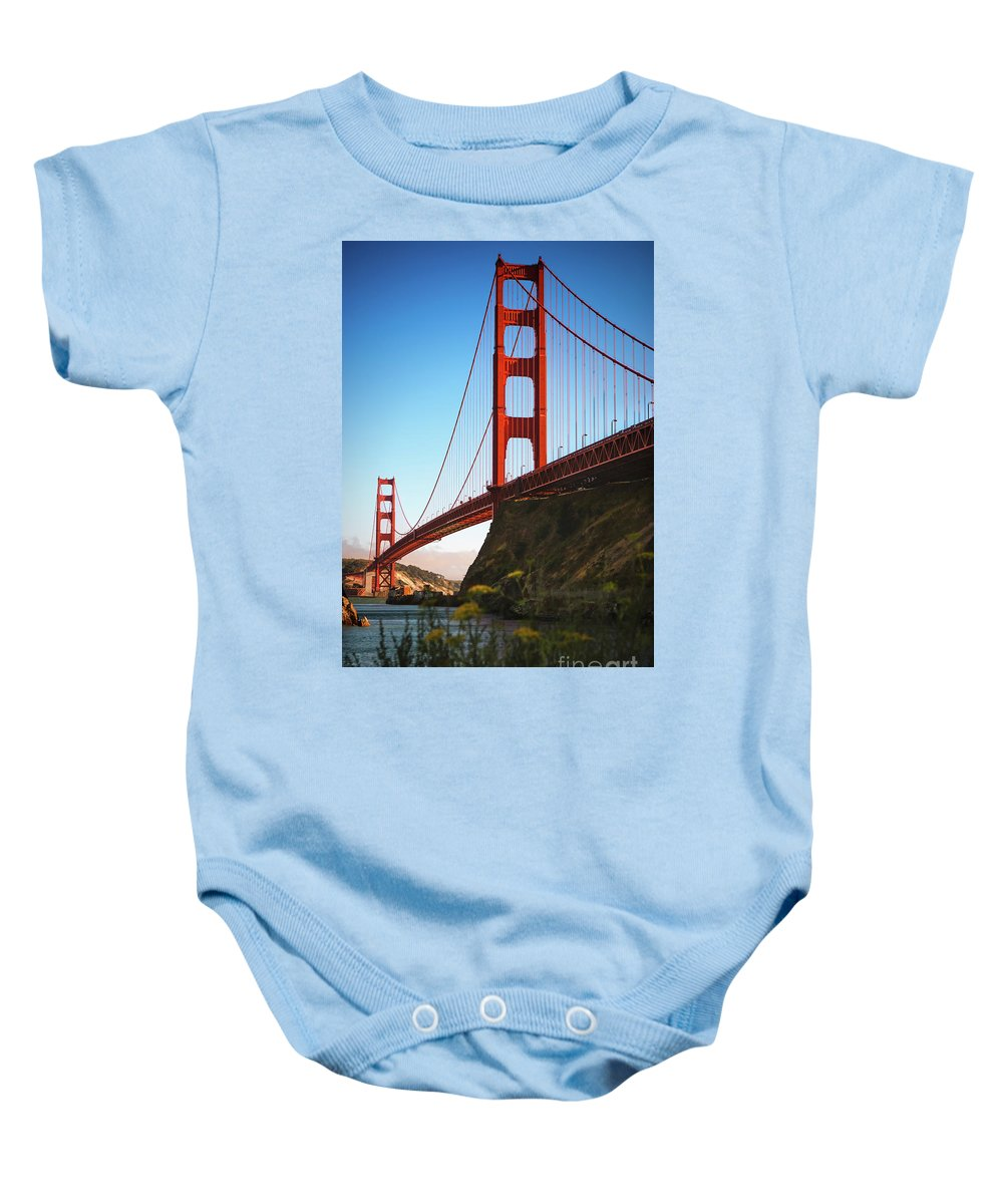 Sfo Baby Onesie featuring the photograph Golden Gate Bridge Sausalito by Doug Sturgess