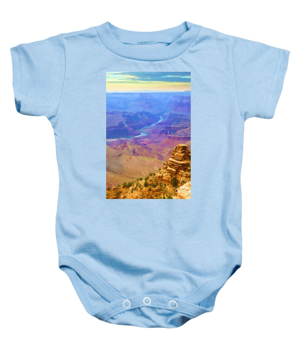 Grand Baby Onesie featuring the photograph Grand Sunset by Ricky Barnard