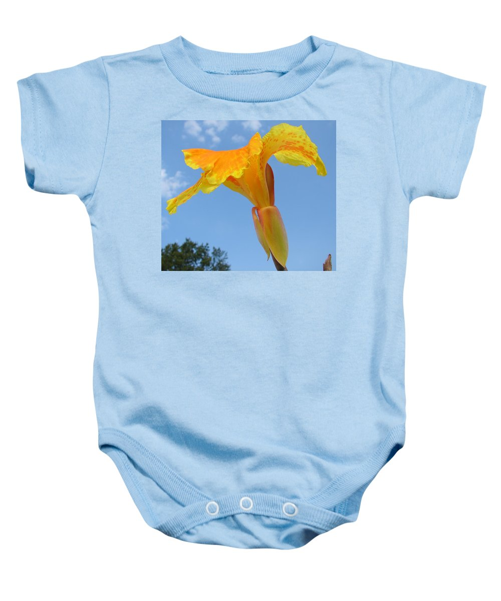 Baby Onesie featuring the photograph Happy Canna by Luciana Seymour