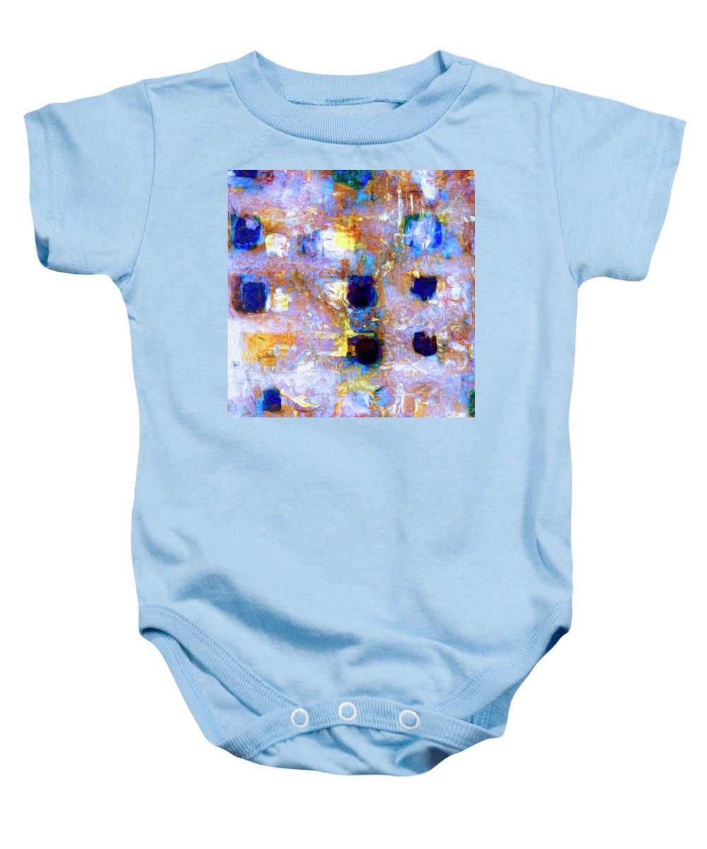 Abstract Baby Onesie featuring the painting Hard Eight by Dominic Piperata