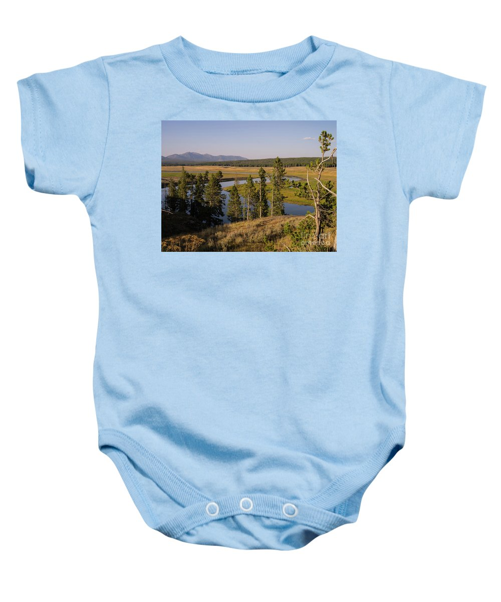 Wyoming Baby Onesie featuring the photograph Hayden Valley by Tracy Knauer