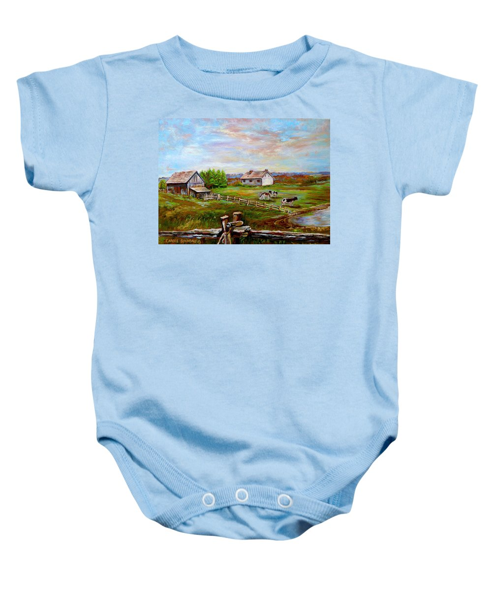Ile D'orleans Baby Onesie featuring the painting Heaven On Earth by Carole Spandau