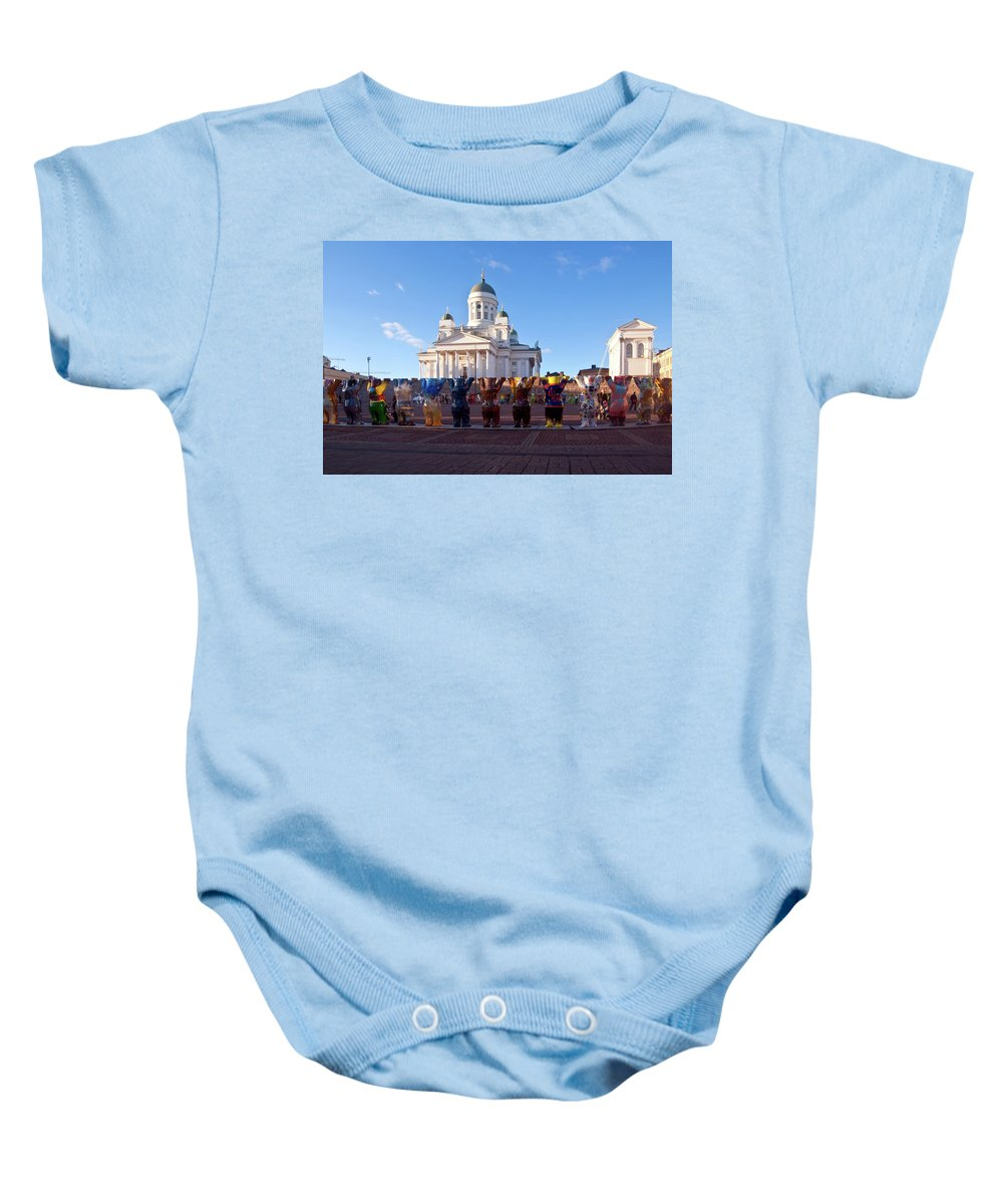 Helsinki Baby Onesie featuring the photograph Helsinki Cathedral by Jarmo Honkanen