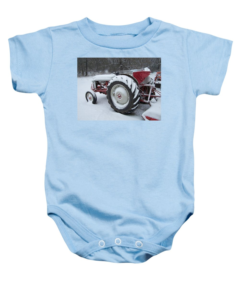 Tractor Baby Onesie featuring the photograph Herman by Gale Cochran-Smith