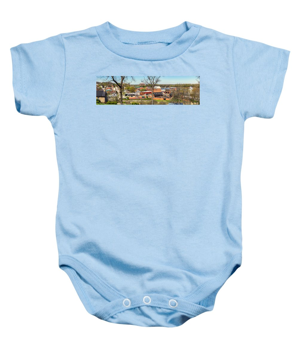 Hermann Baby Onesie featuring the photograph Hermann Mo Panoramic_dsc3992 by Greg Kluempers