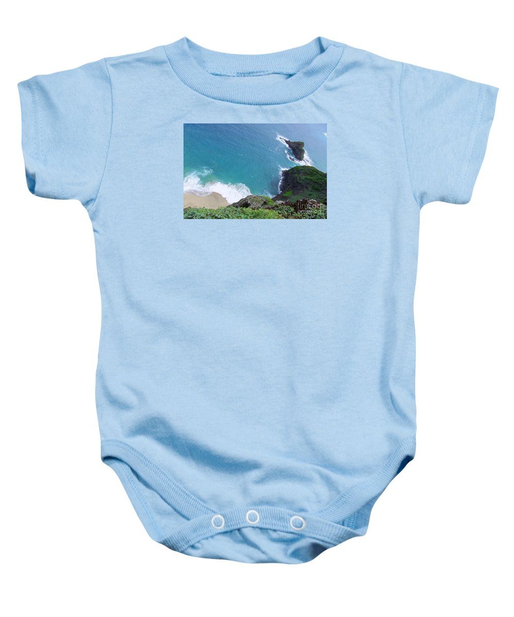 Blue Baby Onesie featuring the photograph Hidden Kilauea Beach by Mary Deal