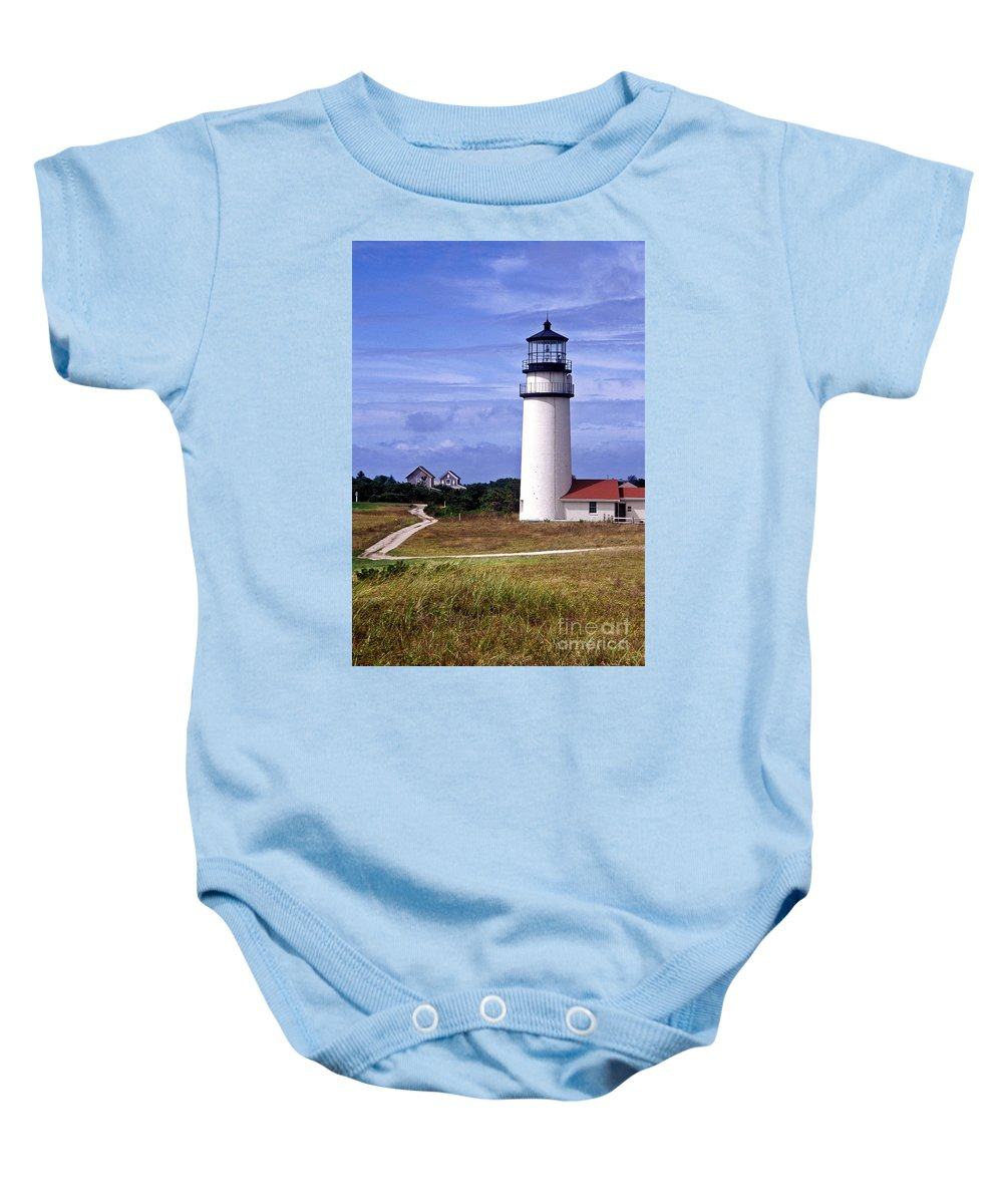 Cape Cod Baby Onesie featuring the photograph Highland Light Truro by John Greim