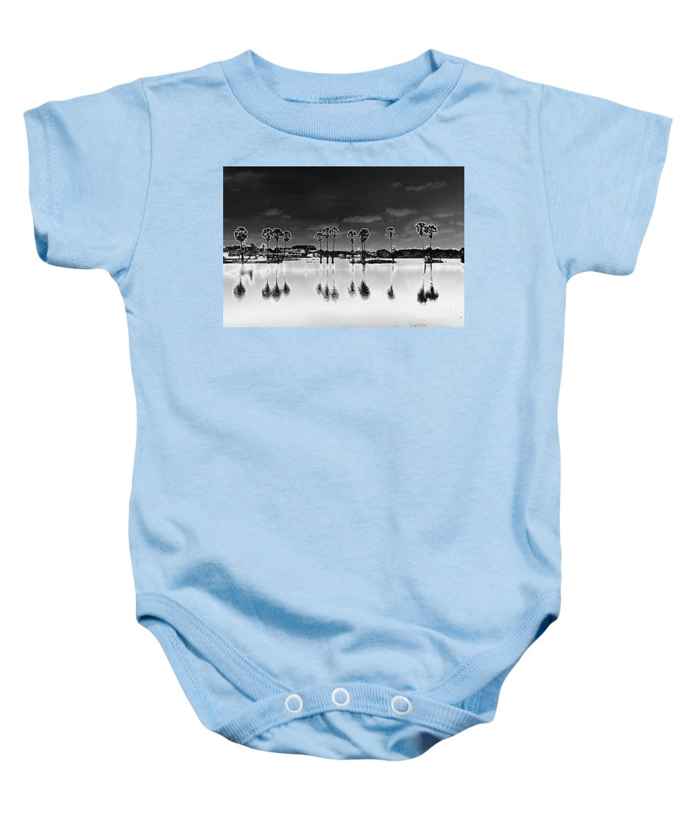 #tropical Baby Onesie featuring the photograph Homage To The Moon by Annette Johnson