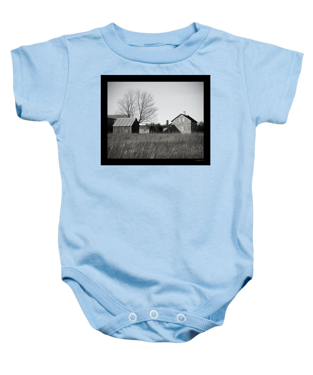 Deserted Baby Onesie featuring the photograph Homestead by Tim Nyberg